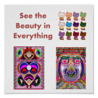 See Beauty in everyth : Frogs, Jester,  Philospher Poster
