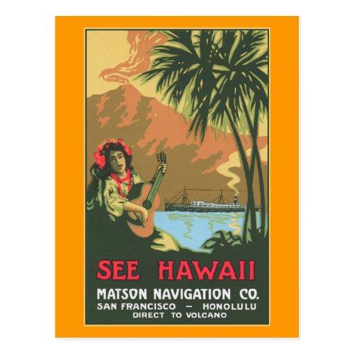 See Hawaii Postcard
