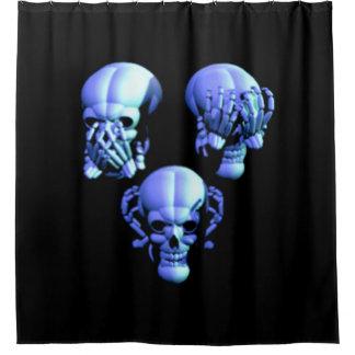 See Hear Speak No Evil Skulls Shower Curtain