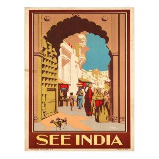 See India - Vintage Travel Postcard