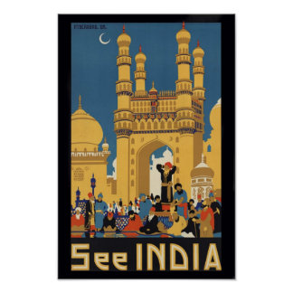 See India Vintage Travel Poster Print