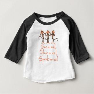 See no evil - hear no evil - speak no evil - baby T-Shirt