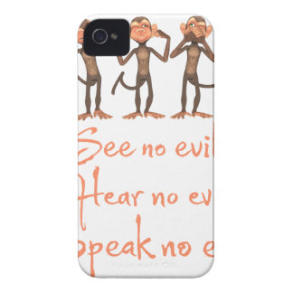 See no evil - hear no evil - speak no evil - iPhone 4 cover
