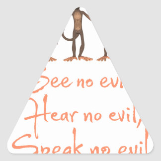 See no evil - hear no evil - speak no evil - triangle sticker