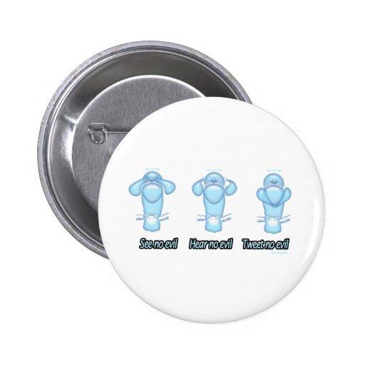 See no evil, hear no evil, tweet no evil button