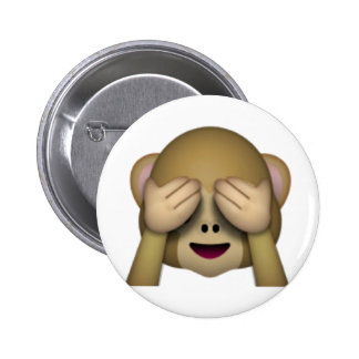 See No Evil Monkey - Emoji 6 Cm Round Badge