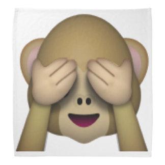 See No Evil Monkey - Emoji Bandana