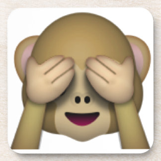 See No Evil Monkey - Emoji Beverage Coaster