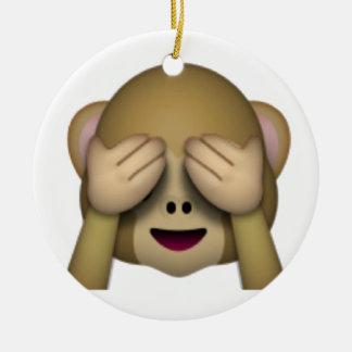 See No Evil Monkey - Emoji Round Ceramic Decoration