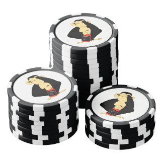 See No Evil Playing Cards Poker Chips