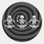 See No Evil... Round Stickers
