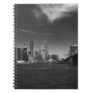 see on 2 products Panoramic Black White Brooklyn Spiral Notebook