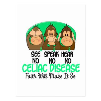 See Speak Hear No Celiac Disease 1 Post Cards