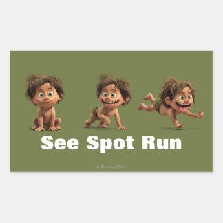 See Spot Run Rectangular Sticker
