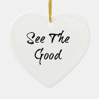 See The Good - Typography - Wisdom Ceramic Heart Decoration