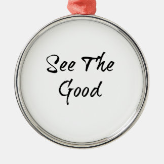 See The Good - Typography - Wisdom Silver-Colored Round Decoration