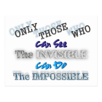 See the invisible Do the Impossible Postcard