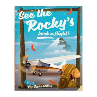 "See The Rocky's ""Book a flight!"" Acrylic Wall Art"
