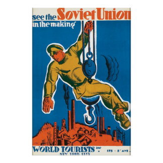 See the Soviet Union Vintage Travel Poster
