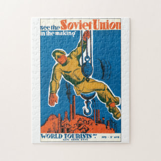 See the Soviet Union Vintage Travel Poster Jigsaw Puzzle
