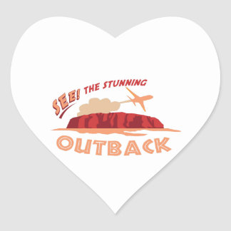 See! The Stunning Outback Heart Sticker