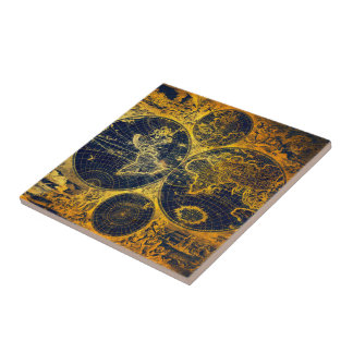 See The World Small Square Tile