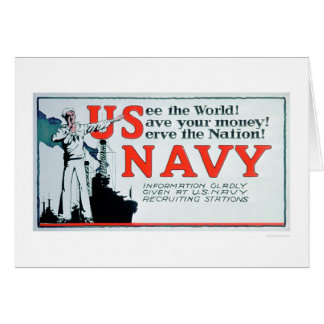 See the World, US Navy (US02162) Greeting Card