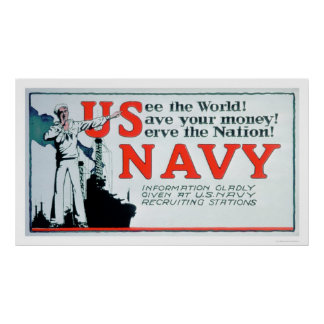See the World, US Navy (US02162) Poster