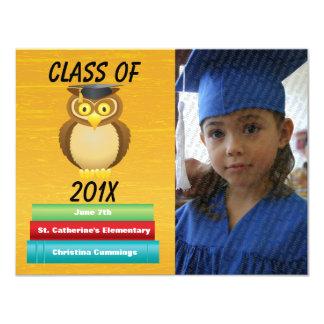 "See Whooo Graduated Graduation Announcement 4.25"" X 5.5"" Invitation Card"