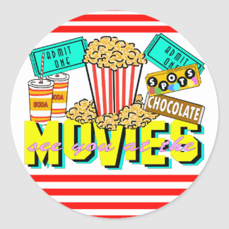 See You At The Movies Classic Round Sticker