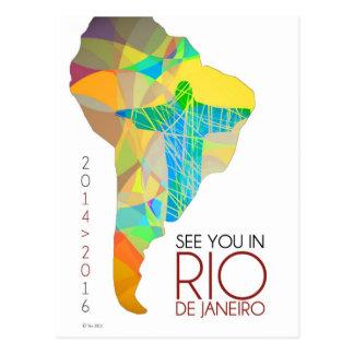 See you in Rio de Janeiro - South America postcard