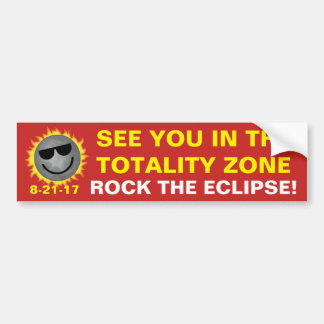 See You In Totality Bumper Sticker