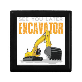 See You Later Excavator Toddler Boy Kids Gift Box