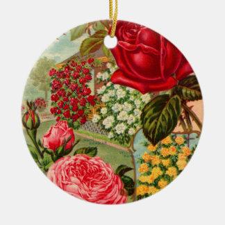 Seed Catalog 12 Round Ceramic Decoration