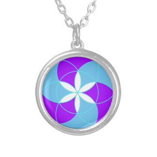 Seed of Life Angel 12 Silver Plated Necklace