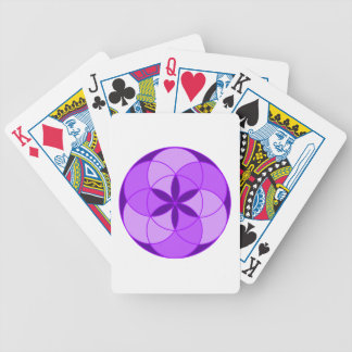 Seed of Life Angel 13 Bicycle Playing Cards