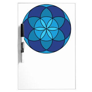 seed of life blue on blue Dry-Erase board