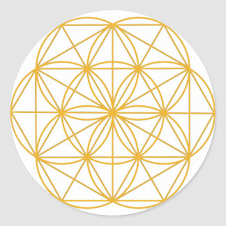 Seed of Life Gold Classic Round Sticker