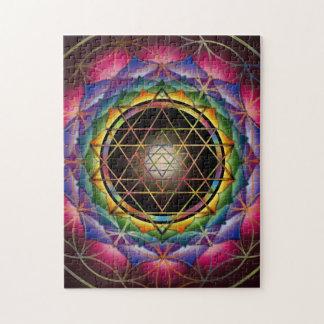 Seed of Life Mandala Puzzle by Rachel C Bemis