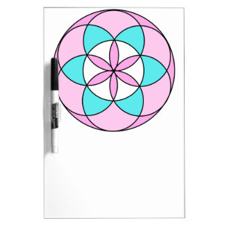 Seed of Life Pink Dry-Erase Boards