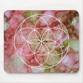 Seed of Life Sacred Geometry Symbol Mouse Pad