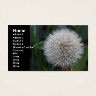 Seeding Dandelion Flower Custom Business Cards