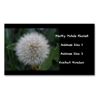 Seeding Dandelion Flower Custom Business Magnets
