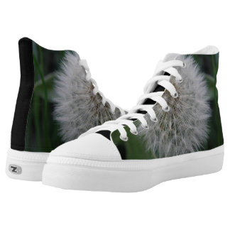 Seeding Dandelion Flower High Top Shoes Printed Shoes
