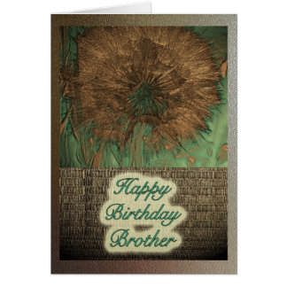 Seeds in Copper Brother Happy Birthday Card