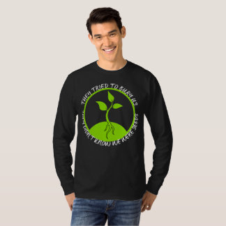 Seeds Men's Basic Long Sleeve Dark T-Shirt