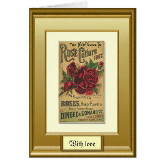 Seeds of the past, Rose culture Greeting Card