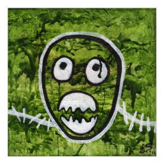 Seedy Pete Skull Monster Original Art Photo Print