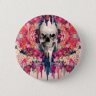 Seeing Color Melting Sugar Skull 6 Cm Round Badge