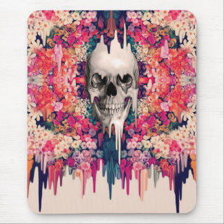 Seeing Color Melting Sugar Skull Mouse Pad